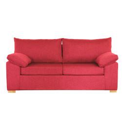 Sillón Italiano 200 3 Cuerpos De Chenille Rojo Full Confort