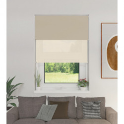 Cortina Roller Doble BlackOut y Screen 5% Beige 1,50 x 2,20