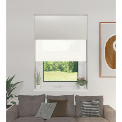 Cortina Roller Doble BlackOut y Screen 5% Blanco 1,80 x 2,20