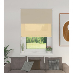 Cortina Roller Doble BlackOut y Screen 6% Beige 1,80 x 1,65