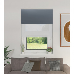 Cortina Roller Doble BlackOut y Screen 6% Gris oscuro 1,50 x 2,20