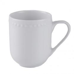 Taza Jarro Mug De Porcelana Blanca Perle 180 cc