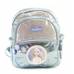 Mochila Espalda Frozen Elsa Celeste 12 Pulgadas