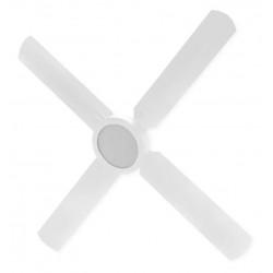 Ventilador Blanco 4 Palas Con Plafon Led 18W Frio