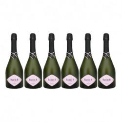 Set de 6 botellas de Champagne Baron B Rosé 750ml