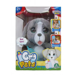 Cry Pets Peluche Perrito que llora.Incluye mamadera plástica y toallita