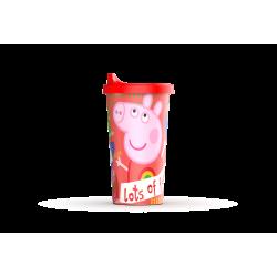 Vaso con Tapa Cafe Peppa Pig Plastico