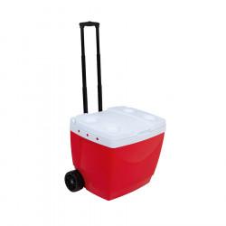 Heladera Conservadora Con Carro Mor 42Lts Color Rojo