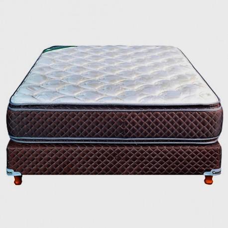 Colchon y Sommier Cannon Exclusive con Pillow 2 plazas espuma alta densidad