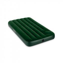 Colchon Inflable Intex Clasicos 110706 -Verde 2 Plazas CInflador Incorporado 137X191X22
