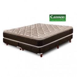 Colchón y sommier Cannon en espuma Exclusive con Pillow top de 2 plazas 140x190