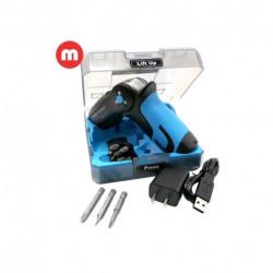 Mini Atornillador Driver Power 8 Inalambrico con Carga Usb Mecan