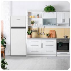 Heladera Con Freezer Acero Inox 360 Litros Peabody Clase A