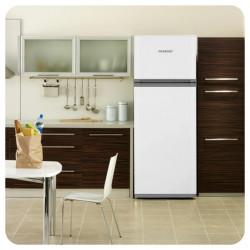 Heladera Con Freezer Acero Inox 420 Litros Clase A Peabody