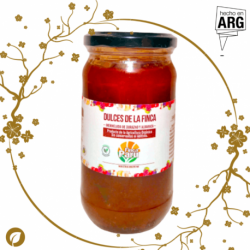 Mermelada Orgánica de Durazno y Albahaca - Finca Paru