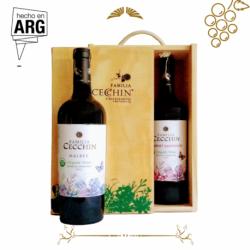 Box Familia Cecchin Sin Sulfitos - Dos Botellas