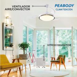 Combo Vitro Peabody Blanco Vc10 + Ventilador De Techo 42 Pulgadas