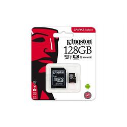 TARJETA DE MEMORIA MICROSD 128GB KINGSTON CANVAS SELECT CLASE 10