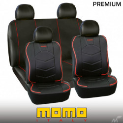 FUNDA MOMO ITALY 018 NEGRO/ROJO PREMIUM SC 018 BR