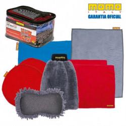 Kit Bolso Lavar-Secar-Pulir 9 Piezas MOMO AC K004