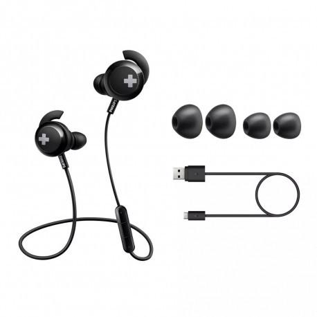 Auriculares In Ear Bluetooth línea BASS+ Philips(SHB4305BK/00)