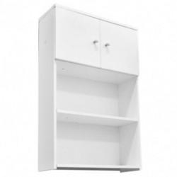 Mueble Organizador Baño Mochila Para Colgar Blanco Estante