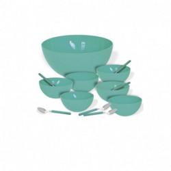Set Bowls De Postre 13 Piezas Plastico Irrompible