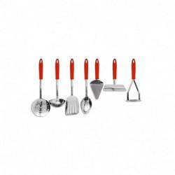 Set de Utensillos Cocina 7 piezas de Acero Carol Lavavajillas