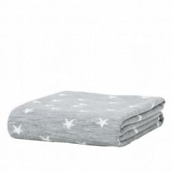 Manta tejida jacquard gris con estrellas (23901I60336)