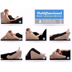 Almohadon Almohada Triangulo 7 En 1 Blue Rest Flexible