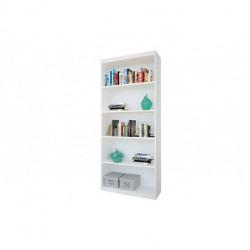 Biblioteca c/ estantes 0.80 mts. melamina blanca (80876)