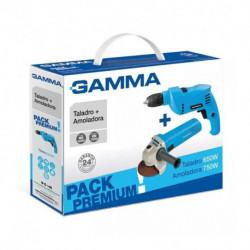 Combo Gamma G1900ar Taladro Perc G1901 + Amoladora G1910