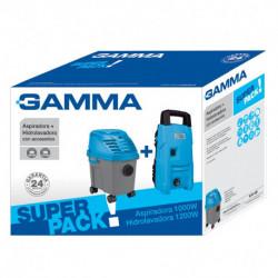 Combo Aspiradora 1000w + hidrolavadora 1200w Gamma (G2299AR)