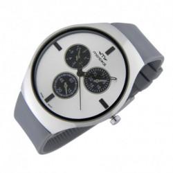 Reloj de caballero Montreal Elegante Correo Gris y Blanco