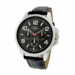 Reloj de caballero Montreal Cuero Negro Hombre Metal (VC1810)