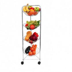Organizador de frutas y verduras vertical (plateado)