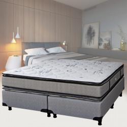 Colchon y Sommier Espuma Max 30 Arcoiris Con Pillow 160x190